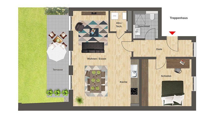 Höfe am Kaffeeberg Grundriss Haus A2 - Wohnung 3