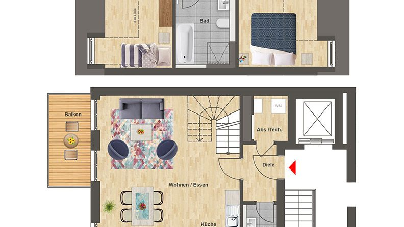 Höfe am Kaffeeberg Grundriss Haus A2 - Wohnung 4