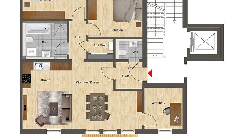 Höfe am Kaffeeberg Grundriss Haus B - Wohnung 5