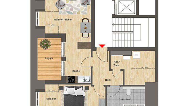 Höfe am Kaffeeberg Grundriss Haus C1 - Wohnung 8