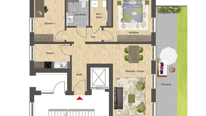 Höfe am Kaffeeberg Grundriss Haus C2 - Wohnung 1