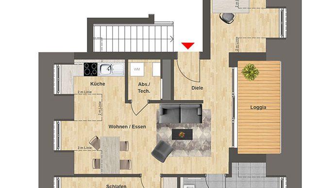 Höfe am Kaffeeberg Grundriss Haus C2 - Wohnung 8