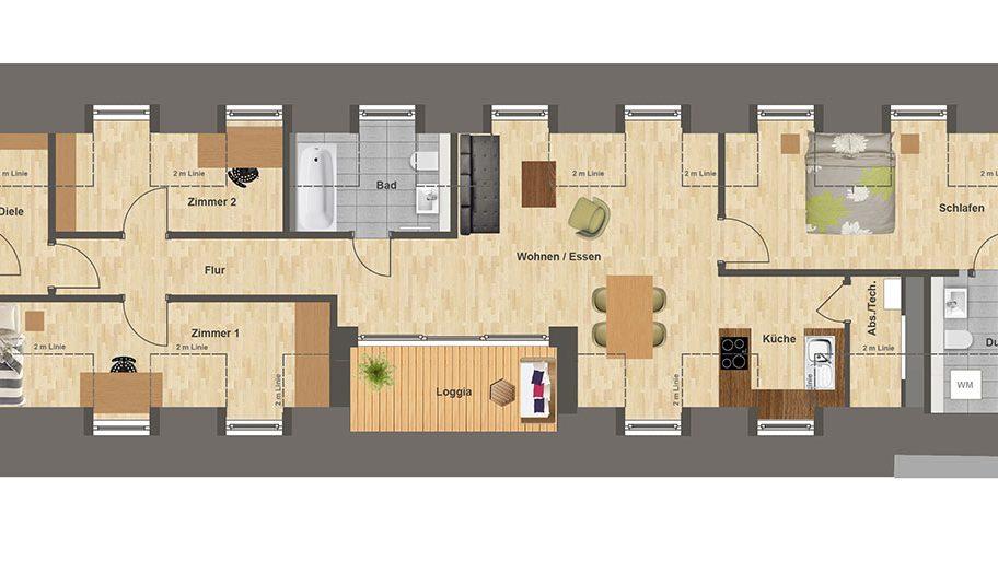 Höfe am Kaffeeberg Grundriss Haus F2 - Wohnung 2
