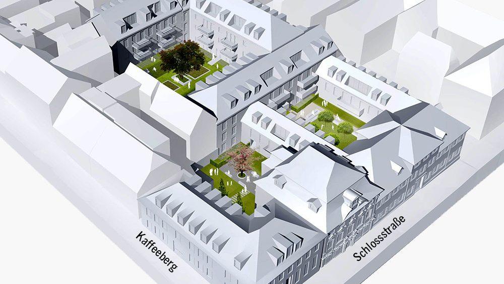 Modellansicht Höfe am Kaffeeberg