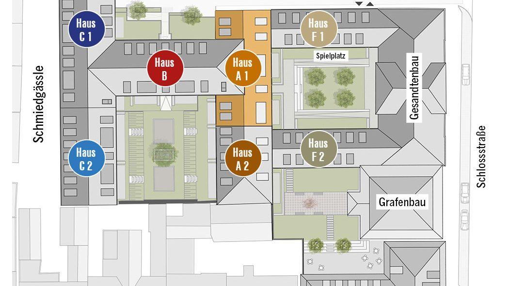 Lageplan Höfe am Kaffeeberg Haus A1