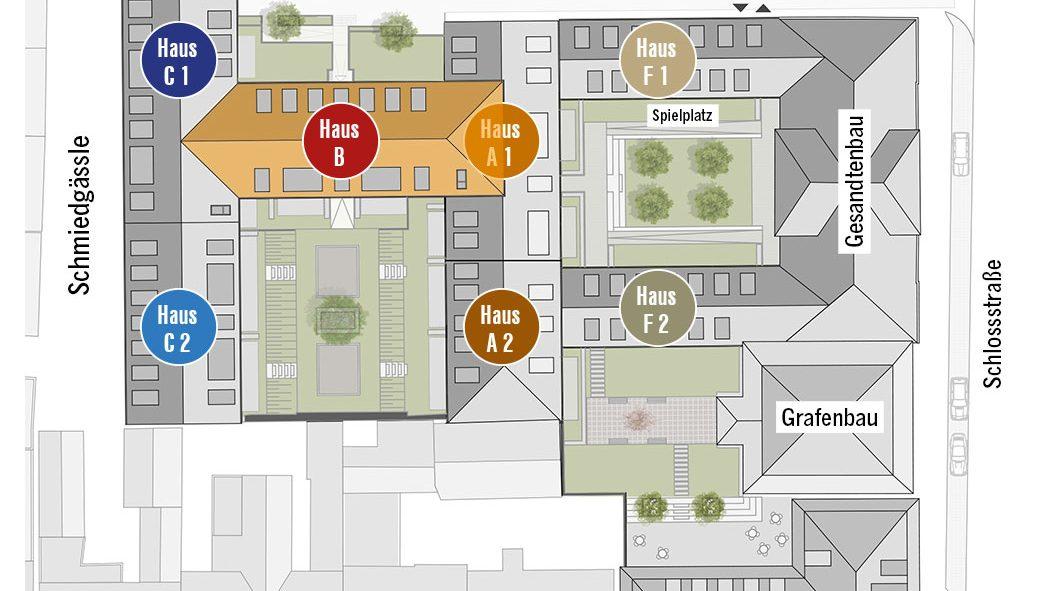 Höfe am Kaffeeberg Lageplan Haus B