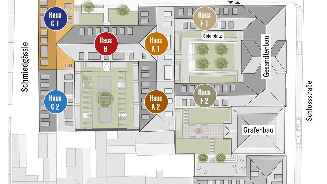 Höfe am Kaffeeberg Lageplan Haus C1