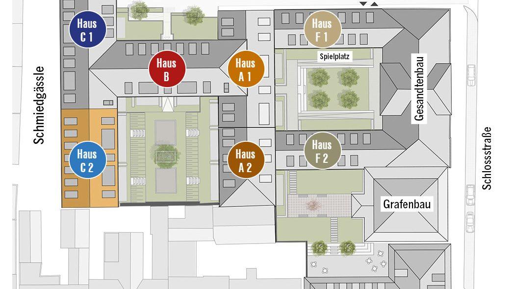 Höfe am Kaffeeberg Lageplan Haus C2