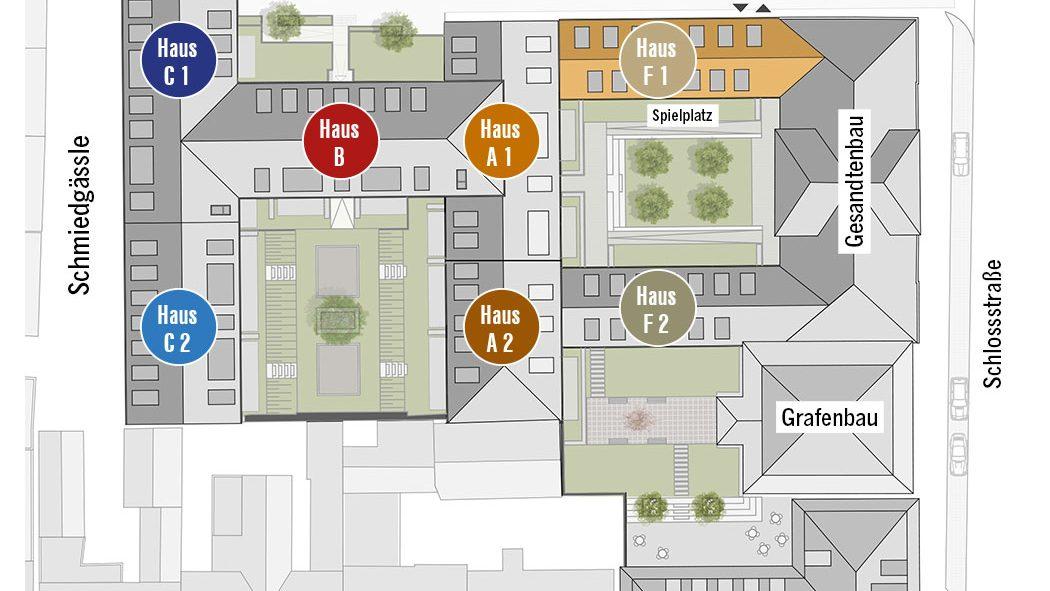 Höfe am Kaffeeberg Lageplan Haus F1