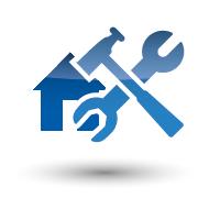 Haus mit Werkzeugen