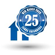 25 Jahre Erfahrung Siegel