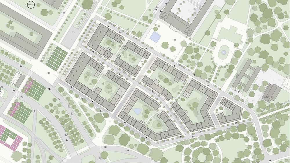 Projekt Lingner Alstadtgarten Dresden, Entwurf: Peter Kulka Architektur