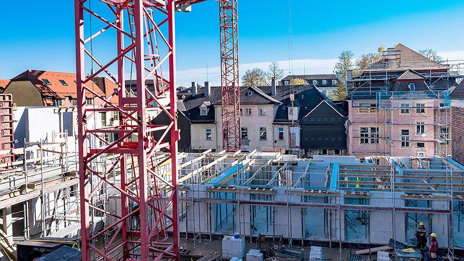 Baustelle der Höfe am Kaffeeberg in Ludwigsburg