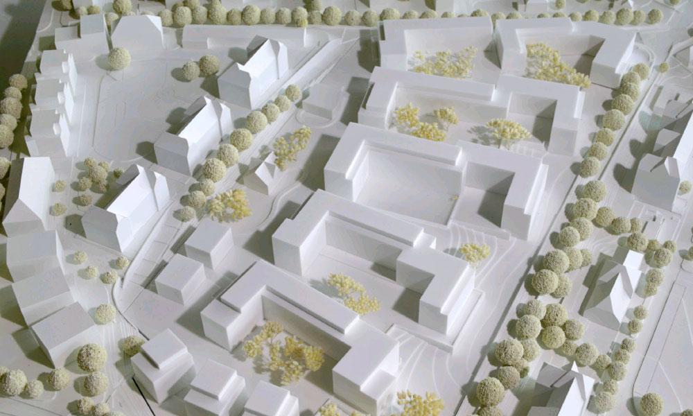 Projekt Park Schönfeld Carree, Kassel, Modell Wuttke & Ringhof Architekten